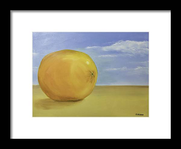 Orange Framed Print featuring the photograph Giant Orange On The Beach by Jim McGraw