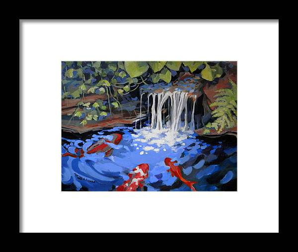 Landscape Framed Print featuring the painting Gibb's Garden Stream by Martha Tisdale