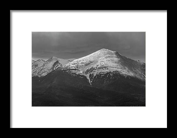 Mountains Framed Print featuring the photograph Gibbs Peak by James Clavet