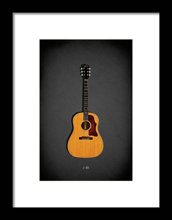 Gibson J-50 Framed Print featuring the photograph Gibson J-50 1967 by Mark Rogan
