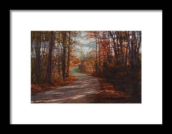 Road Framed Print featuring the mixed media Gibson Ridge Road by Bob Senesac