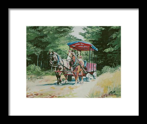 Horses Framed Print featuring the painting Giddyup by Barry Smith
