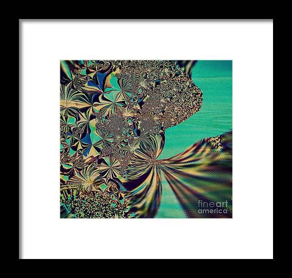 Flower Framed Print featuring the digital art Gift by Beth Aragon
