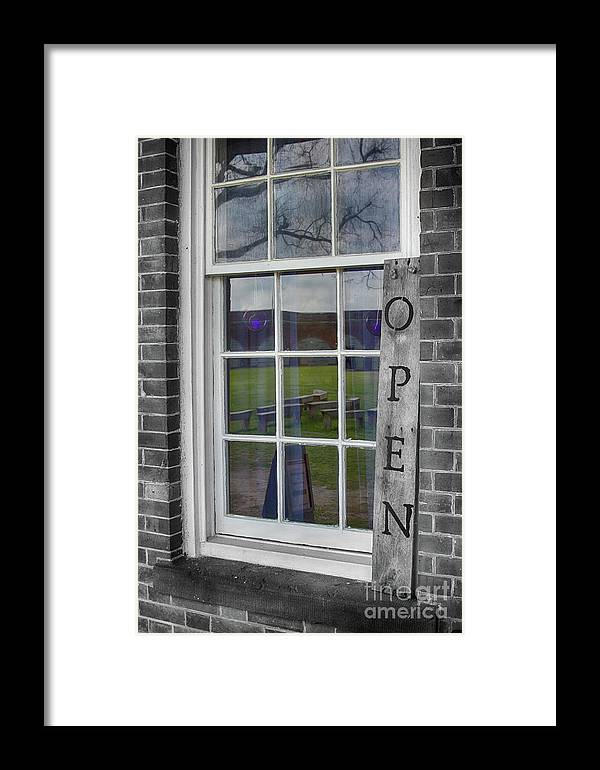 Pulaski Framed Print featuring the photograph Gift Shop Window by Tom Gari Gallery-Three-Photography