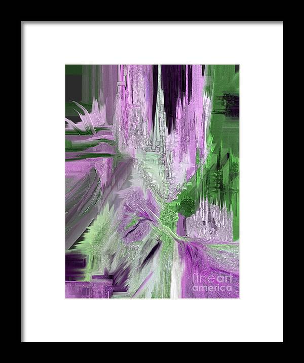 Abstract Framed Print featuring the painting Gifted by Jo Baby