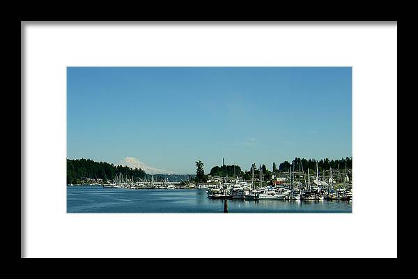 Gig Harbor Bay Framed Print featuring the photograph Gig Harbor Bay by Valerie Josi
