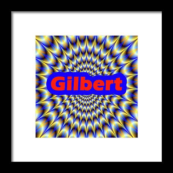 Men Framed Print featuring the digital art Gilbert by Mitchell Watrous