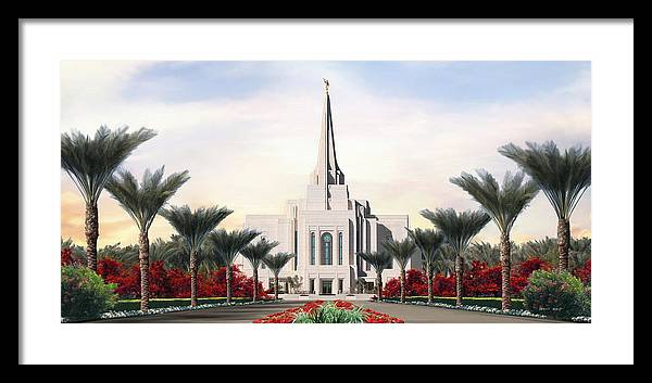 Gilbert Framed Print featuring the painting Gilbert Temple by Brent Borup