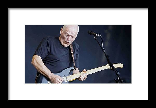 David Gilmour Framed Print featuring the painting Gilmour #003 By Nixo by Never Say Never