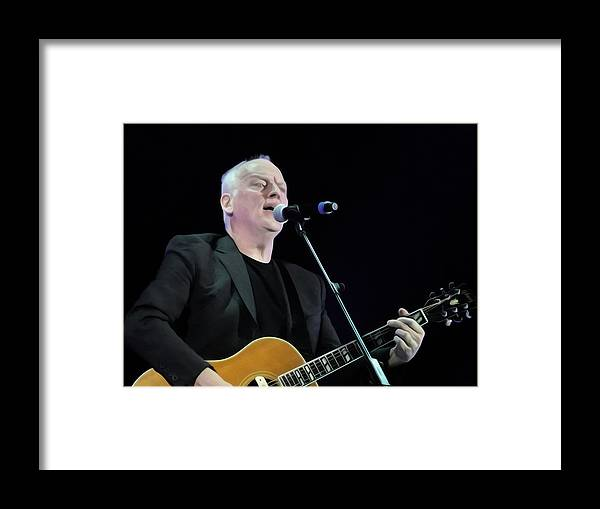 David Gilmour Framed Print featuring the painting Gilmour #023 By Nixo by Never Say Never