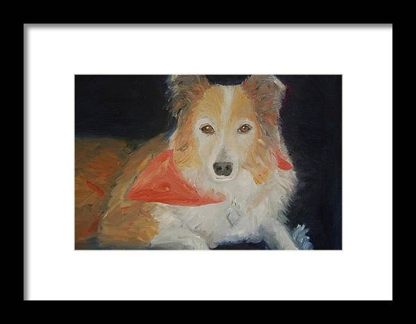 Konkol Framed Print featuring the painting Ginger by Lisa Konkol