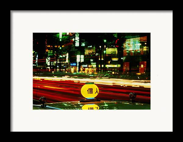 Travel Framed Print featuring the photograph Ginza Tokyo Night by Brad Rickerby