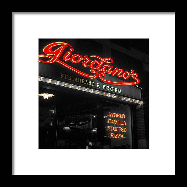 Cafe Framed Print featuring the photograph Giordanos by Audrey Venute