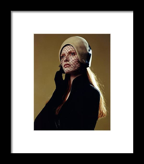 Female Framed Print featuring the photograph Girl In Net Hat by Rusty Walton