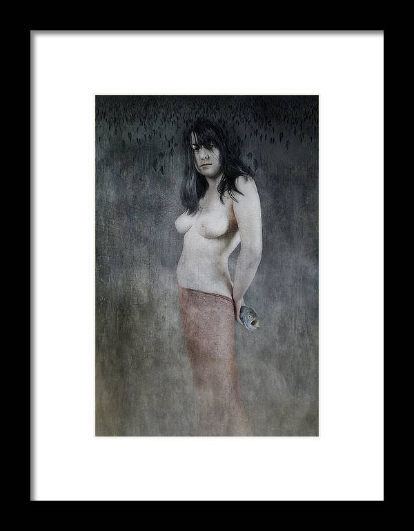 Framed Print featuring the photograph Girl With A Fish by Zygmunt Kozimor