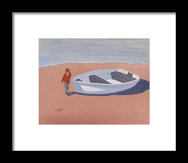 Seascape Framed Print featuring the painting Girl With Dorey by Robert Boyette