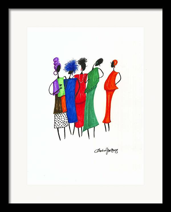 Painting Framed Print featuring the painting Girls Night Out by Bee Jay