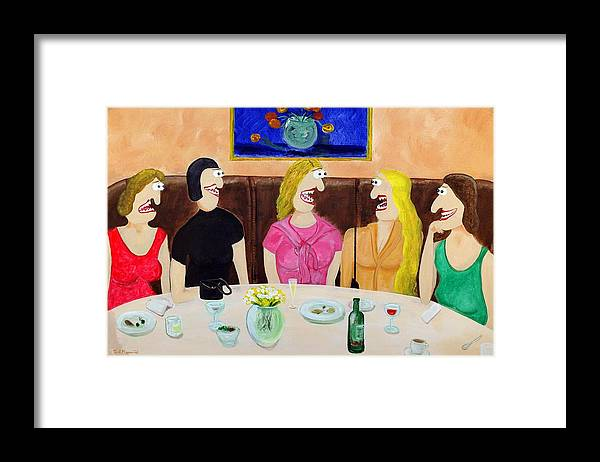 Funism Paintings Framed Print featuring the painting Girls Night Out by Sal Marino