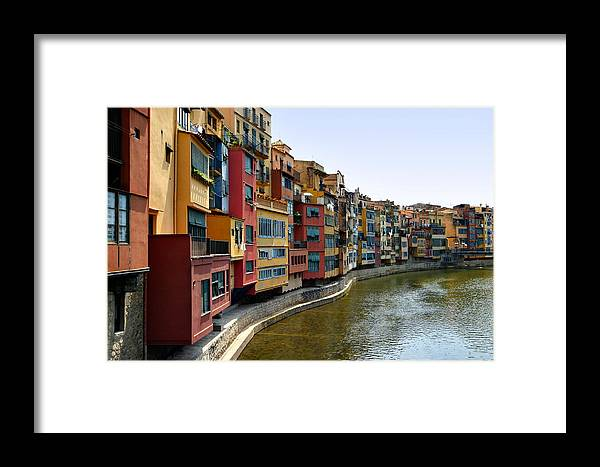 Girona Framed Print featuring the photograph Girona Riverfront by Mathew Lodge