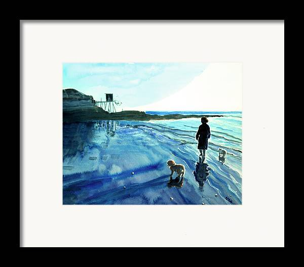 Twilight Framed Print featuring the painting Girondin Twilight by Aymeric NOA