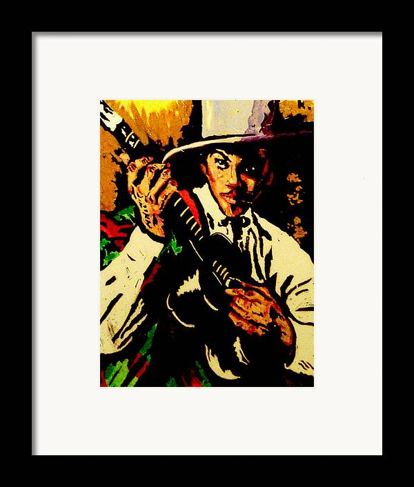 Figurative Framed Print featuring the painting Gitano by Elio Lopez