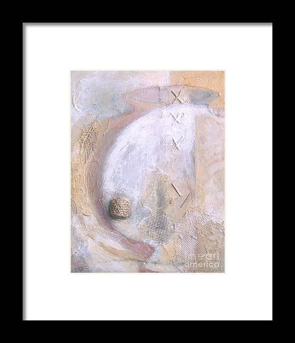 Collage Framed Print featuring the painting Give And Receive by Kerryn Madsen-Pietsch