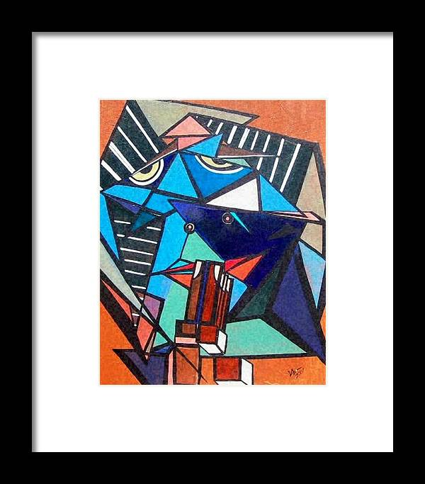Abstract Framed Print featuring the painting Give Us This Day by Valerie Wolf