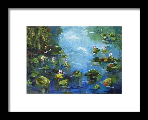 Giverny Framed Print featuring the painting Giverny Lily Pond by Torrie Smiley
