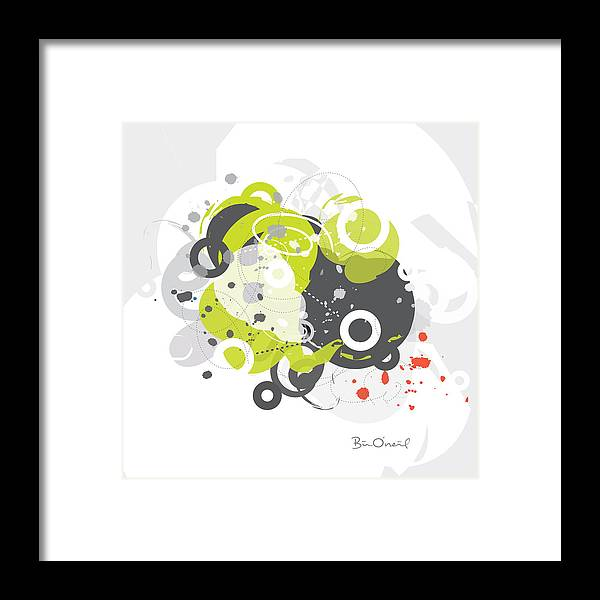 Retro Framed Print featuring the print Gizmo - Retro-modern Abstract by Bill ONeil
