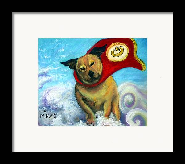 Dog Framed Print featuring the painting Gizmo The Great by Minaz Jantz