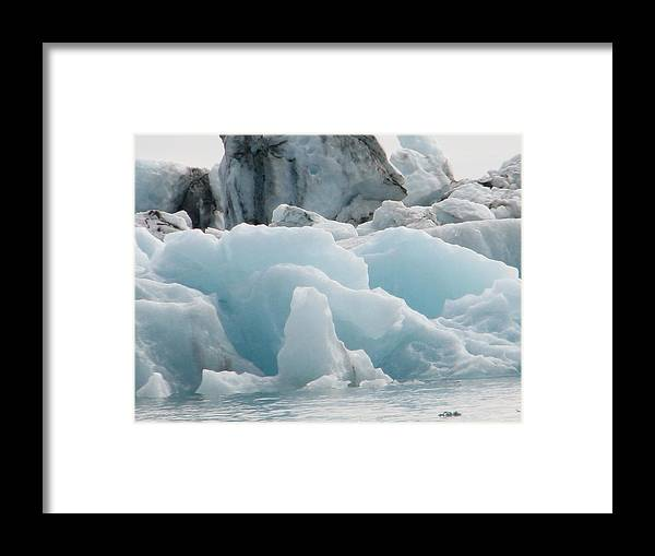 Ice Lagoon Framed Print featuring the photograph Glacial Lagoon Iceland by Andres Zoran Ivanovic