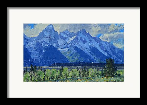 Landscape Framed Print featuring the painting Glacier Gulch by Lanny Grant