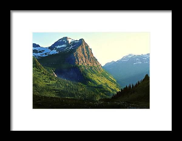 Glacier National Park Framed Print featuring the photograph Glacier National Park 2 by Deahn   Benware