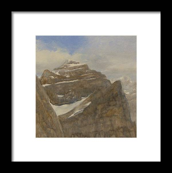 Glacier Framed Print featuring the painting Glacier National Park by Gary Kaemmer