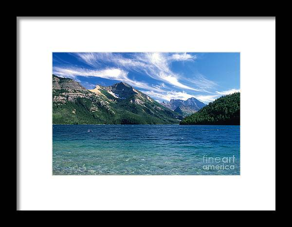 Glacier National Park Framed Print featuring the photograph Glacier National Park by Sandra Bronstein
