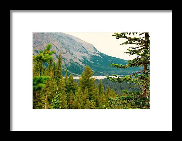Framed Print featuring the photograph Glacier Np View by Matthew Justis