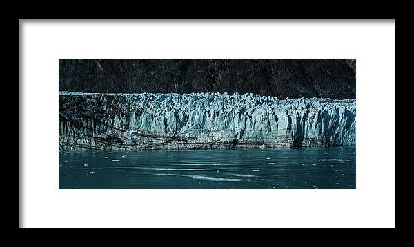 Panaroma Framed Print featuring the photograph Glacier Panaroma by John Marshall