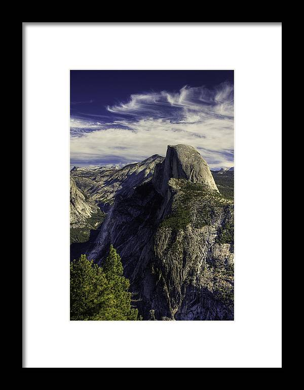 Yosemite Framed Print featuring the photograph Glacier Point by Jim Riel