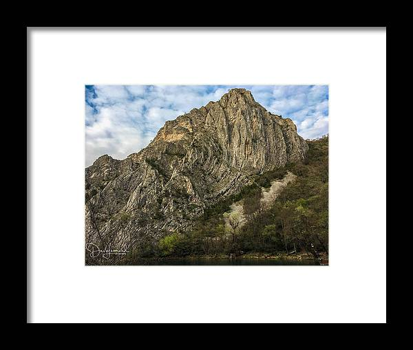 Framed Print featuring the photograph Glacier Swirl - Matka, Macedonia by Dave Leonard