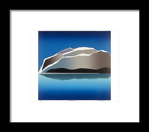 Landscape Framed Print featuring the mixed media Glaciers by Jarle Rosseland