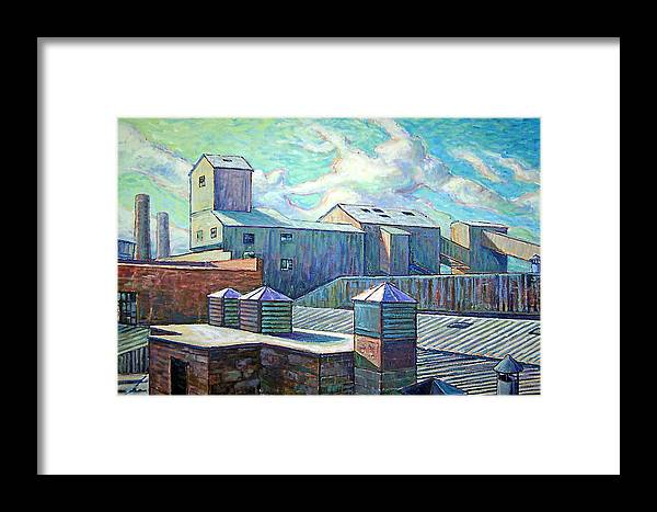 Cityscape Framed Print featuring the painting Gladding Mcbean by Gary Symington