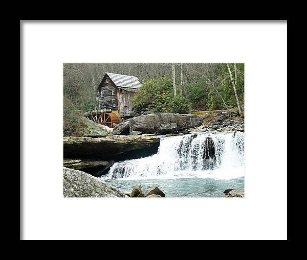 Water Falls Framed Print featuring the photograph Glade Creek Grist Mill In Color by Jack Paolini