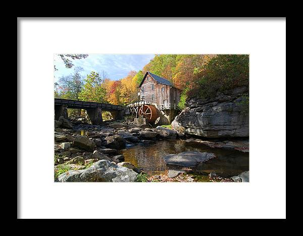Mill Framed Print featuring the photograph Glade Creek Grist Mill by Steve Stuller