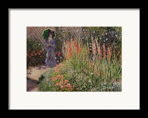 Gladioli Framed Print featuring the painting Gladioli by Claude Monet