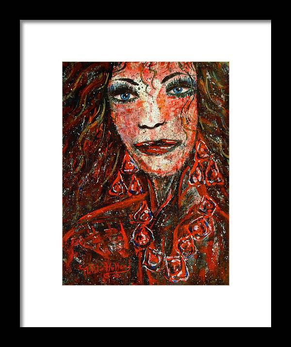 Woman Framed Prints Framed Print featuring the painting Glamorous by Natalie Holland