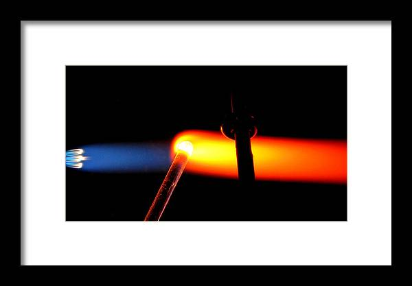 Flame Framed Print featuring the photograph Glass Bead Making by Sarah Houser