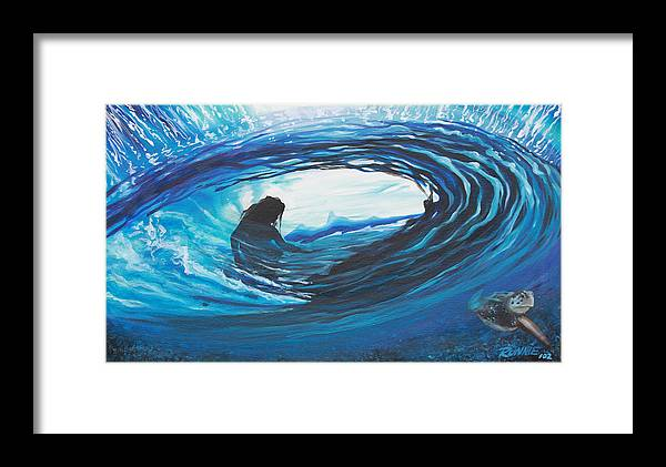 Surf Framed Print featuring the painting Glass Eye 2 by Ronnie Jackson