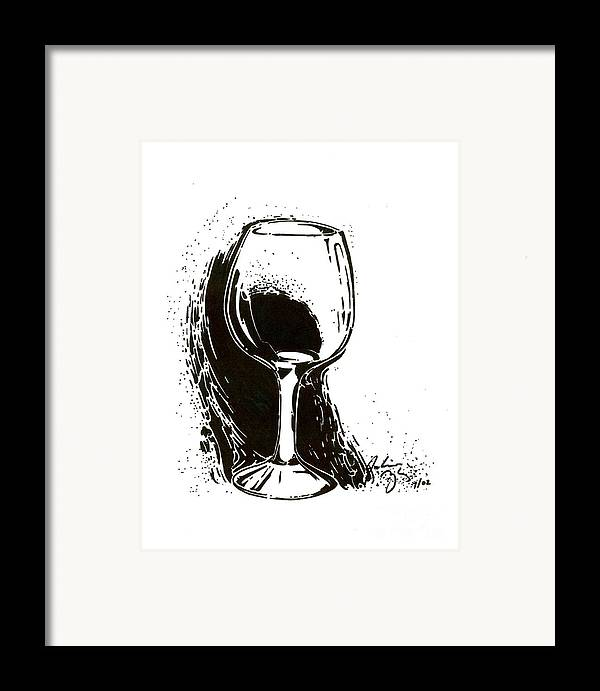 Glass Framed Print featuring the drawing Glass by Julianna Ziegler