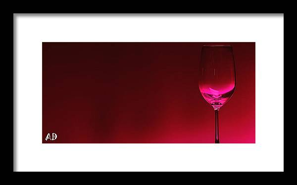Wine Framed Print featuring the digital art Glass Of Wine by Abhijeet Dhidhatre