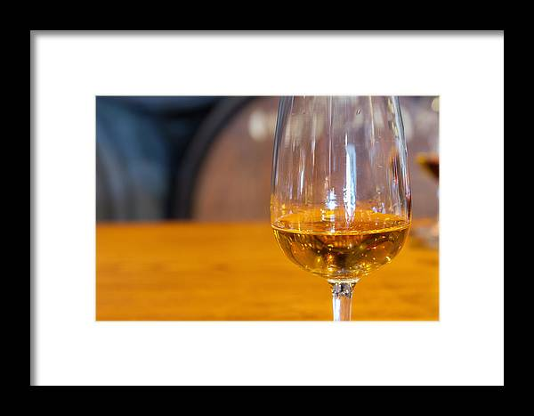 Wine Framed Print featuring the photograph Glass Of Wine by Anastasy Yarmolovich